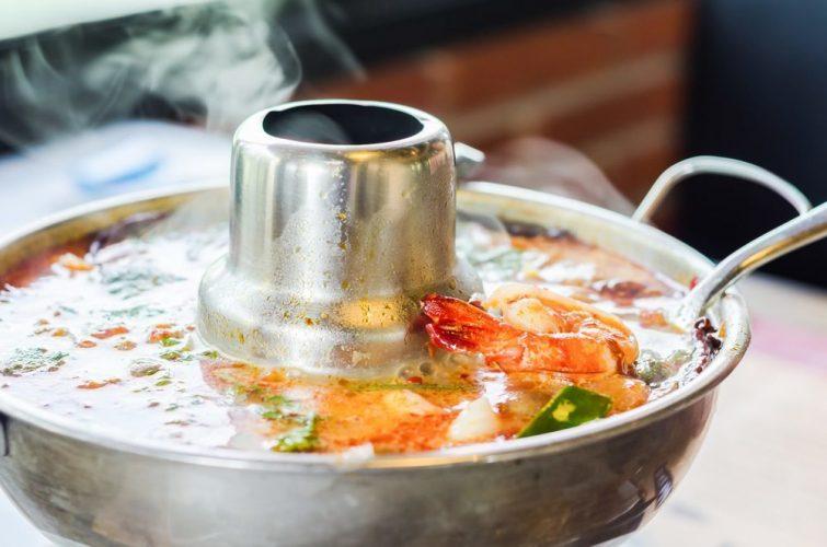 Aluminum Thai Hot Pot Tom Yum Serving Bowl