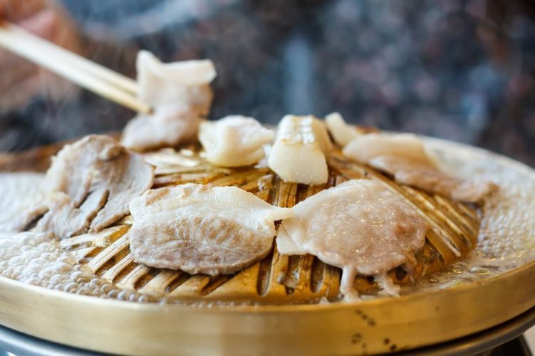 Thai Korean Japanese Style BBQ Grill Steak Hot Pan